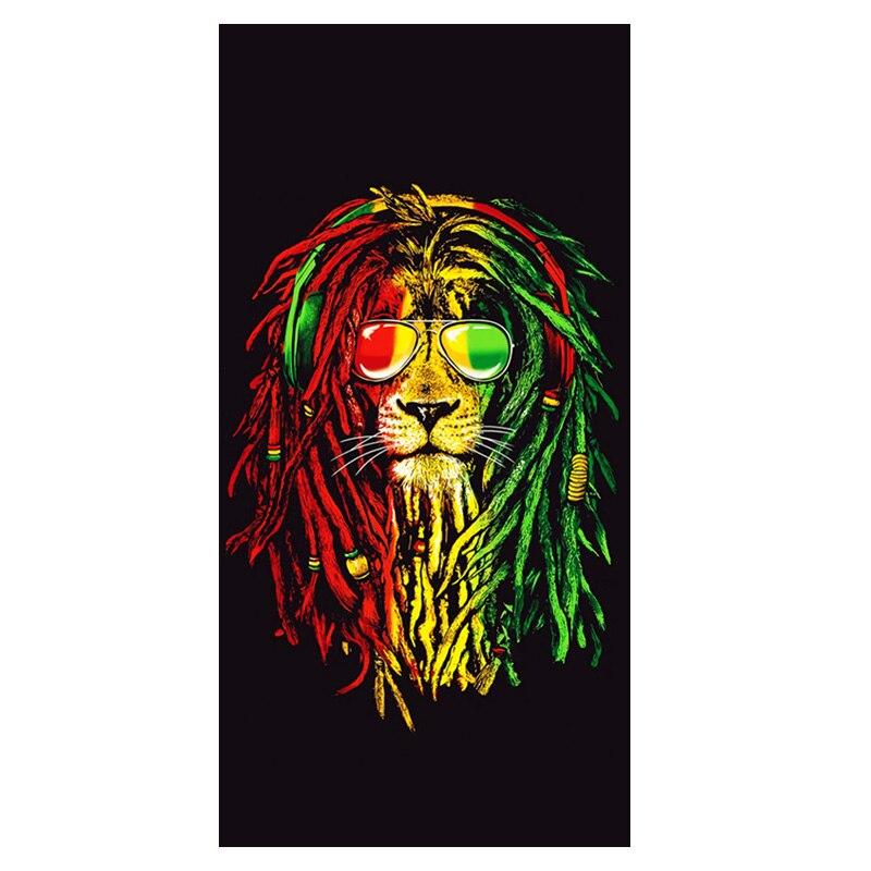 Legal reggae rasta leão praia toalhas de viagem rasta música jamaica bandeira esporte natação toalha de banho conjunto adulto 75x35 140x70 cm presente