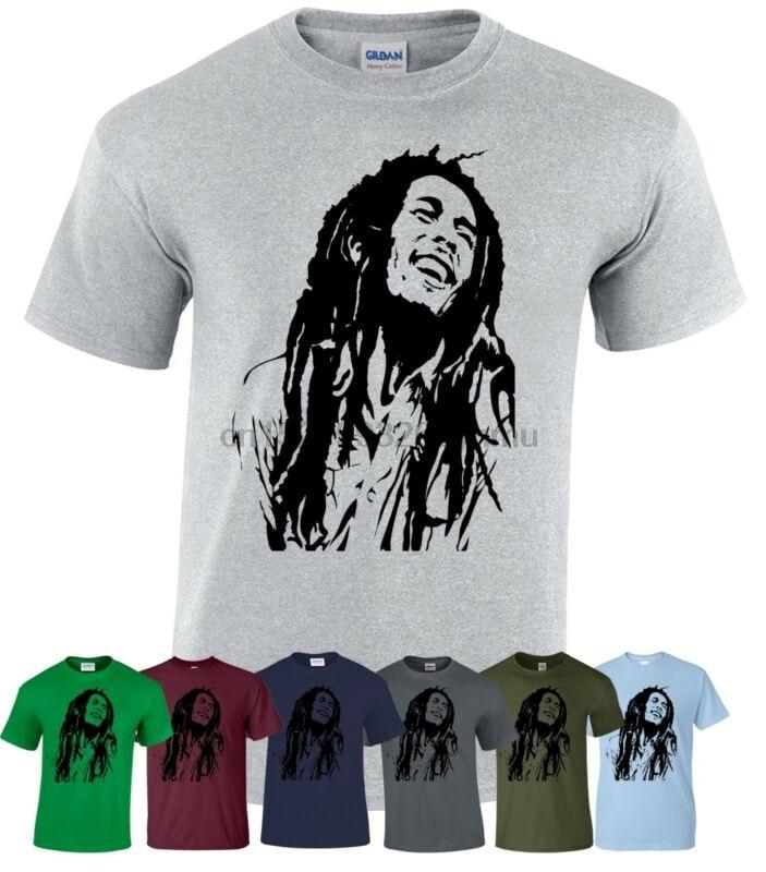 Bob Marley Inspired футболка регги Smoke Weed ямайский Ragga Music Рождественский подарок Топ