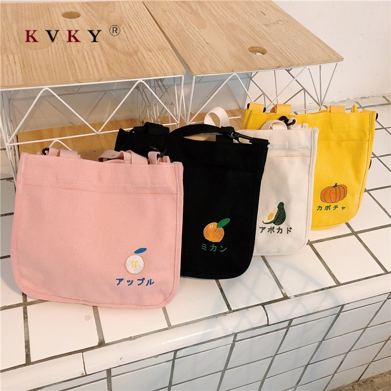 Bolsa Reutilizable para mujer, bolsas de lona sólidas para hombro, bolsas de playa de estilo japonés para señora, chicas, bolsas escolares para estudiantes