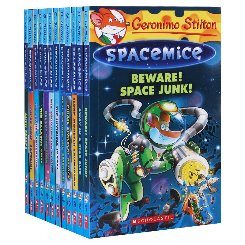 12 Books Geronimo Stilton Spacemice Picture Book Children Reading Book Young-Adult Novel English Comic Story For Age 5-12 Livros недорого
