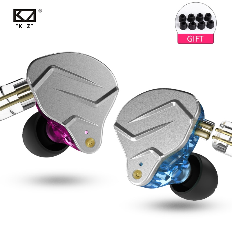 KZ ZSN PRO1BA+DD Hybrid Headset HIFI Bass Noise Cancelling Earbuds for ZST ZS10 AS10 ZSN C10 C16 V80
