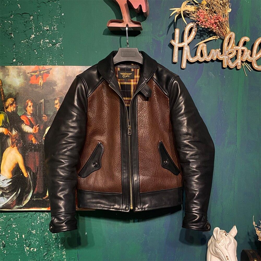 CDJ-111 Cidu Asian Size Read Description Super Quality Genuine Italian Cow Leather & Japan Horsehide Slim Stylish Biker Jacket