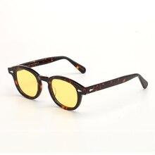 Night Vision Glasses Yellow Polarized lens Johnny Depp sunglasses Women Men Luxury Brand Acetate Gla
