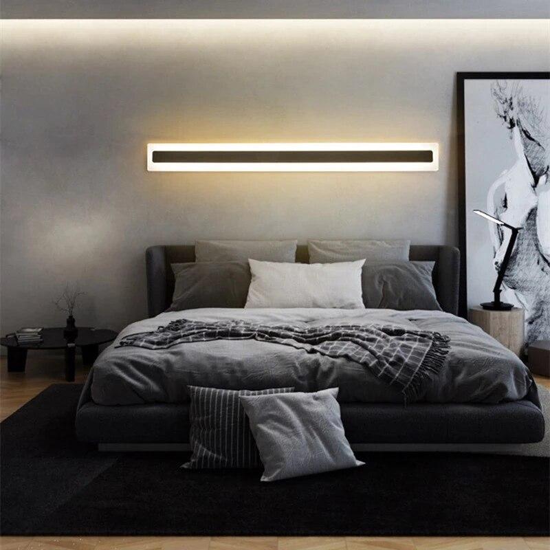 Long Strip LED Wall Lamp PIR Motion Sensor Interior Decoration Sconces Bedroom Bedside Corridor Aisle Lighting Fixture AC220V  - buy with discount