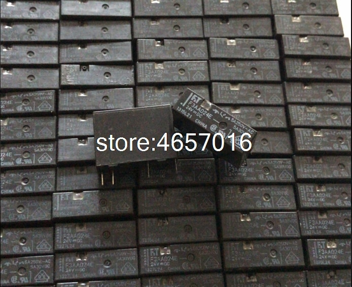 10 unids/lote Original FT relé de FTR F3AA024E 24V 24VDC normalmente abierto DC24V4PIN 5A
