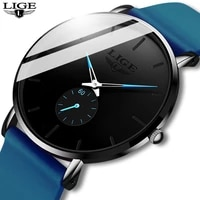 2020 lige new quartz watches for men leather strap male sport wristwatch top luxury brand business clock men watch reloj hombres