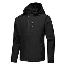 Men Sport Zip Jackets Coat Casual Tops Softshell Outwear Waterproof for Outdoor ZJ55