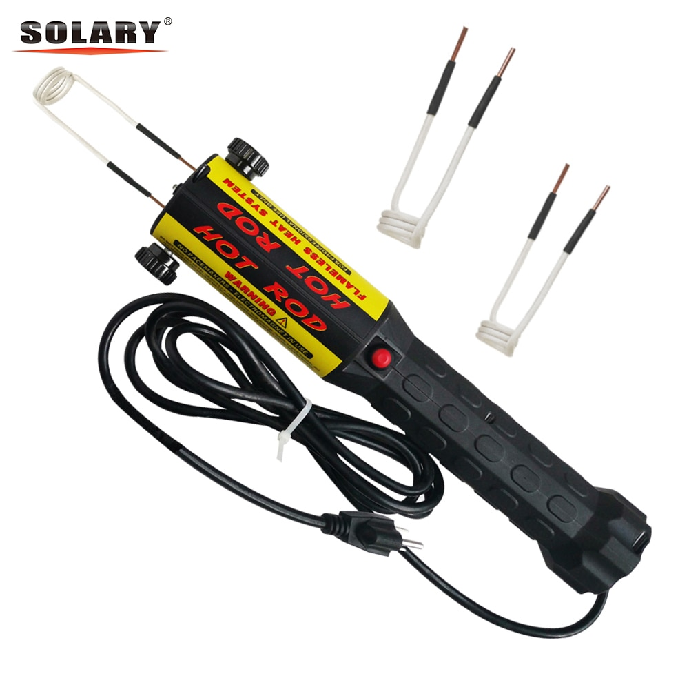 Solary Magnetic Induction Heater Kit 1000W 110V 220V Automotive Flameless Heat with Coils 1KW Car Repair Tool