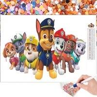 Peinture diamant theme dessin anime  Kit de broderie chien de sauvetage  Art de mosaique 5D a bricolage soi-meme  strass  point de croix  decoration de la maison