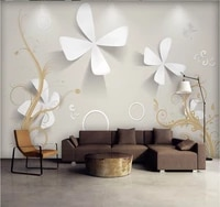xuesu modern minimalist small lucky three dimensional carved background wall custom 8d wall covering