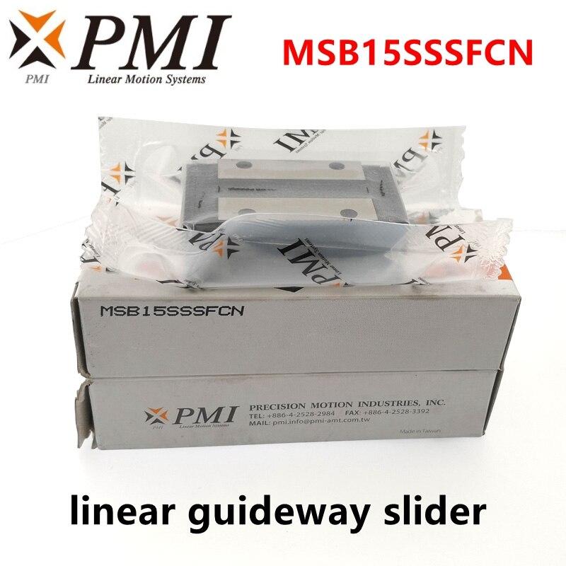 Original taiwan pmi linear guideway slider bloco de transporte msb15s MSB15S-N msb15sssfcn para co2 máquina do laser cnc roteador