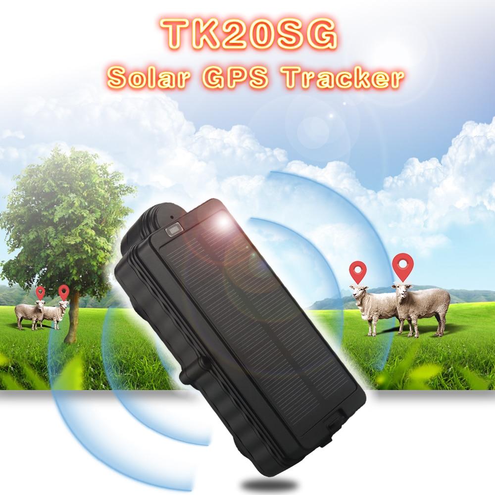 TK20SG rastreador Solar 3G WCDMA vehículo impermeable GPS rastreador con batería de espera larga de 20000mAh fuerte magnético GSM/ GPRS
