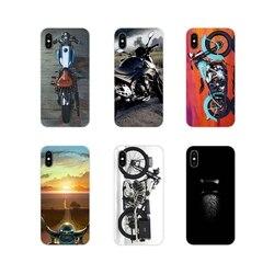 Para apple iphone x xr xs 11pro max 4S 5S 5c se 6s 7 8 plus ipod touch 5 6 tpu transparente casos capa do vintage clássico da motocicleta