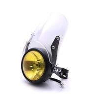 Motorcycle Headlight Windshield 35-46mm Headlight Mount Brackets For Harley 883 Honda cbr Yamaha Suzuki Kawasaki BMW
