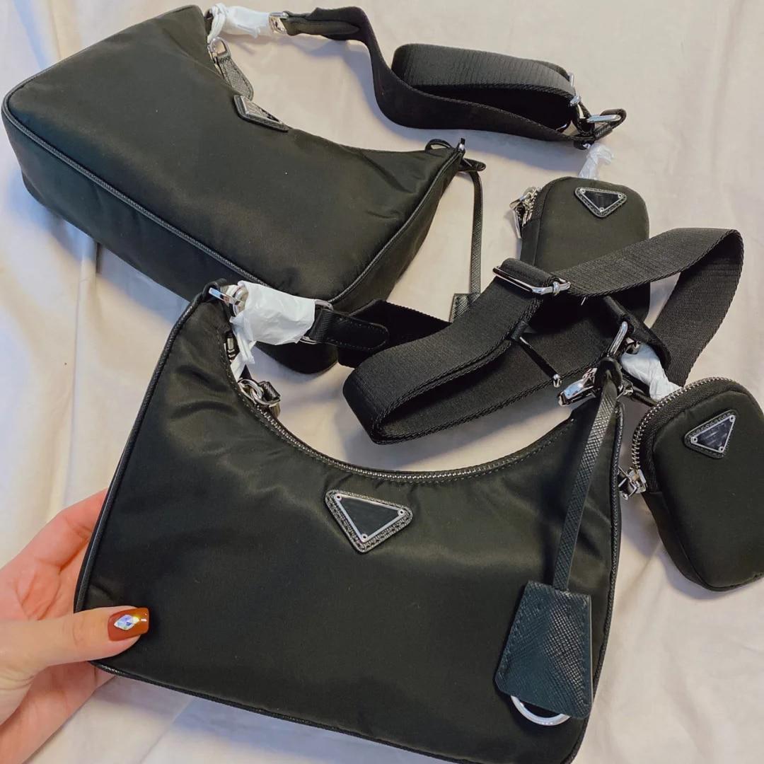 P family three-in-one nylon bag with box underarm bag female hobo handbag shoulder bag messenger bag