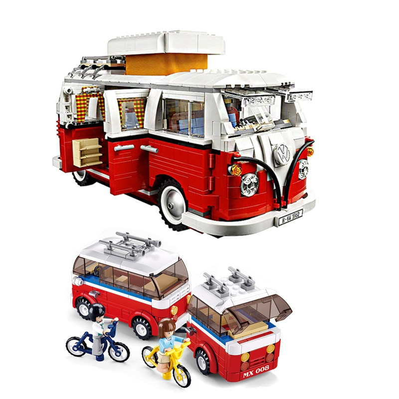 1354 pçs série técnica volkswagen t1 camper van legoed 10220 modelo blocos de construção kits conjunto tijolos brinquedos bloco tamanho modelo número
