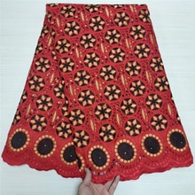 High Quality Swiss Lace Fabric 100% CottonAfrican Dry Lace With Embroidery Swiss Voile Fabrics For W