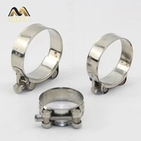 pipe clamps powerful stainless steel hose clips fuel hose pipe clamps worm drive durable anti oxidation pipe fasteners clamps