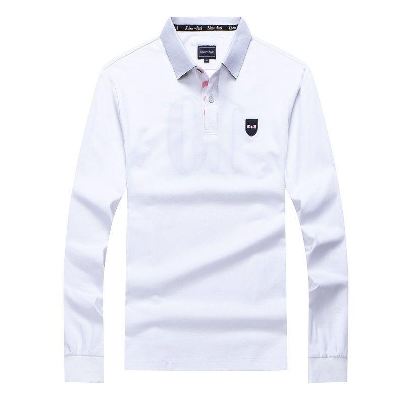 New MEN'S eden PARK Long Sleeve Polo Shirt embroidery Masculina business Chemise homme casual cotton man solid tops plus m-3xl