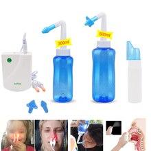 300/500ml nettoyant pour le nez lavage Nasal Neti Pot BioNase rhinite sinuite Cure nez Massage dispositif 70ml vaporisateur bouteille thérapie