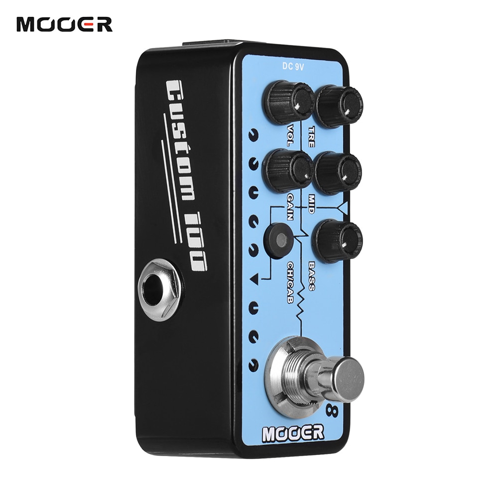 Mooer Guitar Effect Pedal Parts Accessories Digital Front Stage 018 Custom 100 Micro Preamp Guitars Pedalboard Synthesizer enlarge