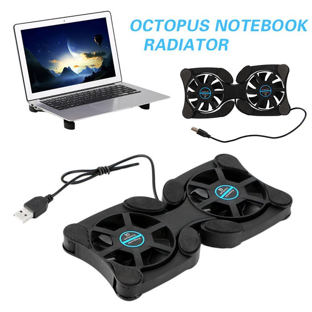 Base de refrigeración para portátil, ventilador con forma de pulpo, doble USB,...