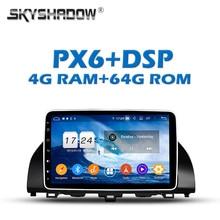 PX6-lecteur DVD de voiture DSP   Android 9.0, 4 go + 64 go, IPS TDA7851 GPS, carte RDS Radio wifi, Bluetooth 5.0, pour Honda ACCORD 10 2018