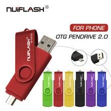 Clé USB nuiflash lecteur haute vitesse OTG 64 go 32 go 16 go 8 go 4 go de stockage externe double Application Micro clé USB