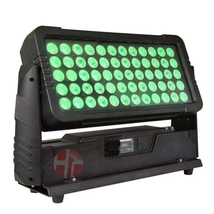 عكس الضوء IP65 إضاءة مقاومة للماء مدينة اللون LED أضواء للمسرح 60x10 واط RGBW 4in 1 وحدة إضاءة led جداريّة غسالة led + المرحلة + أضواء