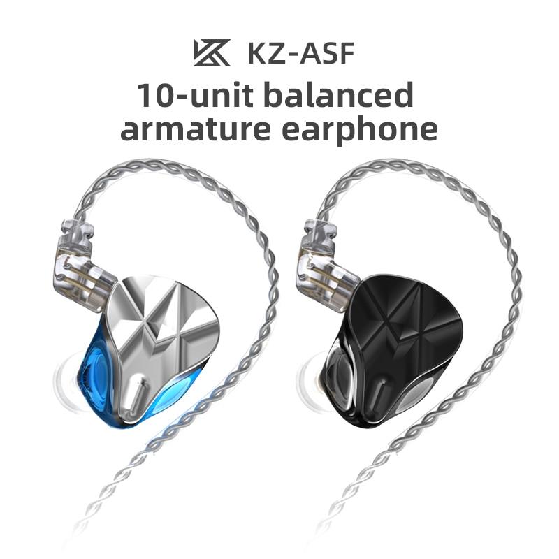 KZ ASF 10BA Balanced Armature Driver HIFI In Ear Earphone DJ Monitor Earbuds Noise Cancelling Sport Headphone KZ ZSX ZAX ZSN PRO enlarge