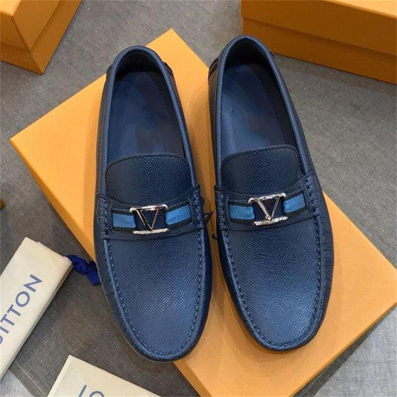 2021 Spring and Autumn New Men's Peas Shoes Business Fashion Driving All-match Personality Soft-sole