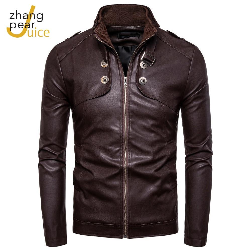 Мужские кожаные куртки, повседневные Куртки из искусственной кожи, пальто с длинным рукавом, куртка на молнии, пальто, мужская одежда