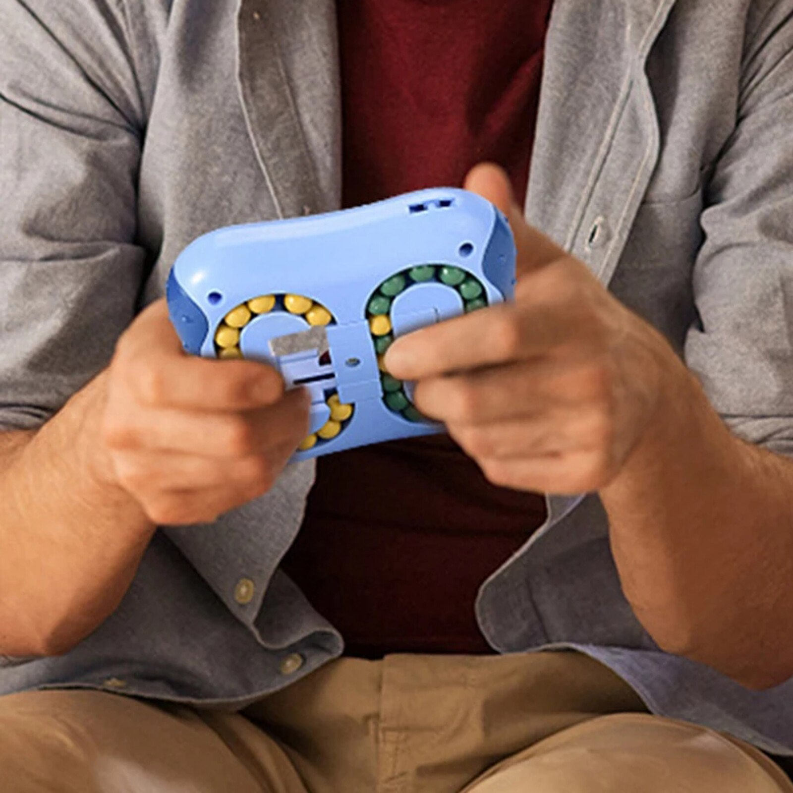Rotating Magic Bean Intelligence Fingertip Cube Fidget Toys Children Finger Gyro Magic Disk Montessori Educational Toy enlarge