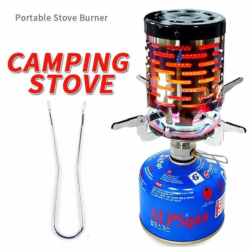 Mini Kachel Slijtvaste Outdoor Camping Gas Kachel Draagbare Roestvrijstalen Warmer Verwarming Cover Apparatuur