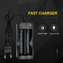 Battery Charger 18650 EU Plug 2 slots Smart Charging Li-ion Rechargeable Battery Charger
