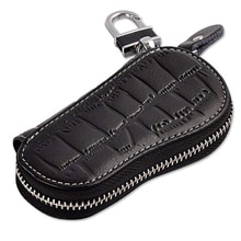 Genuine Leather Fashion Key Bag Leather Key Wallets Key Case for Car Keychain Cover New Zipper Key H