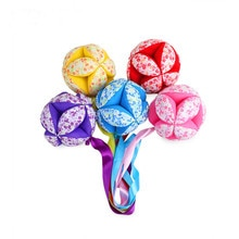 XCQGH Baby Rattle Toy Hand Listening Training Ball Toy Infant Interaction Colored with Ribbon Appeas