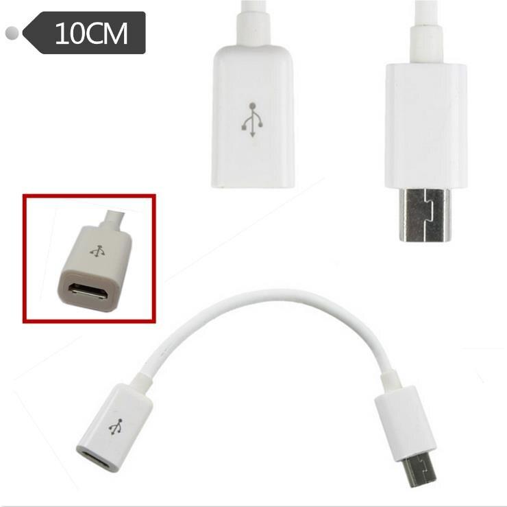 USB 2,0 Micro madre mini Mini USB de carga pública adaptador de cable de datos 10cm Android cable de datos del teléfono móvil cable de alimentación