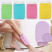 Solid Two-Side Bath Scrub Glove Thick Dead Skin Removal Body Exfoliating Beauty Massage Mitt Body Cl