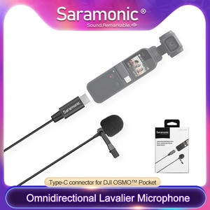 Saramonic LavMicro U3-OP omnidirectional Lavalier Microphone with Type-C Connector for DJI  OSMO™ Pocket