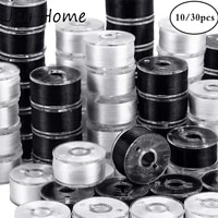1030pcs black white sewing machine bobbins spool plastic sewing bobbins with thread for home embroidery machines sewing tools