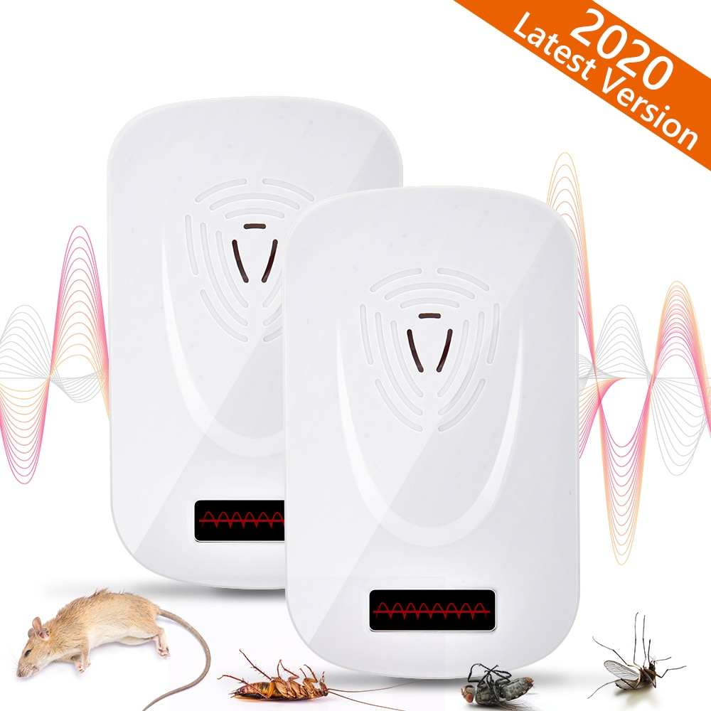 Ultrasonic Anti Mosquito Repellent Insect Repeller Rejector for Mouse Mole Flies Cockroach Rat Bug Rejection Household Tool