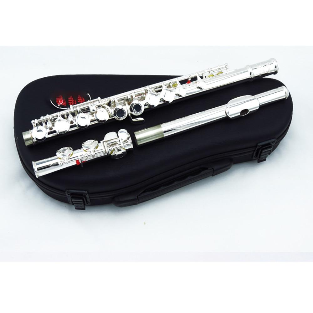 Flute instrument beginner 16 hole E-Key division silver plating professional performance test vfl-2000s enlarge
