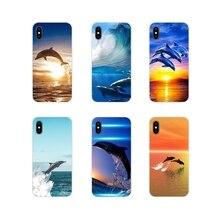 Dauphin mignon Accessoires coques de téléphone Couvre Pour Apple iPhone X XR XS 11Pro MAX 4S 5S 5C SE 6S 7 8 Plus ipod touch 5 6