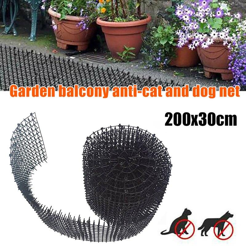 Jardín balcón Anti-gato Anti-perro estera gato Scat Mat plástico Prickle Net cazo Stopper mantener gato perro lejos