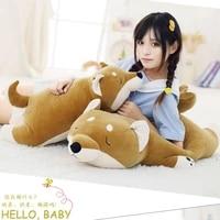 40 100cm 1pc cartoon lying plush stuffed dog big toys shiba inu dog doll lovely animal children birthday gift corgi plush pillow