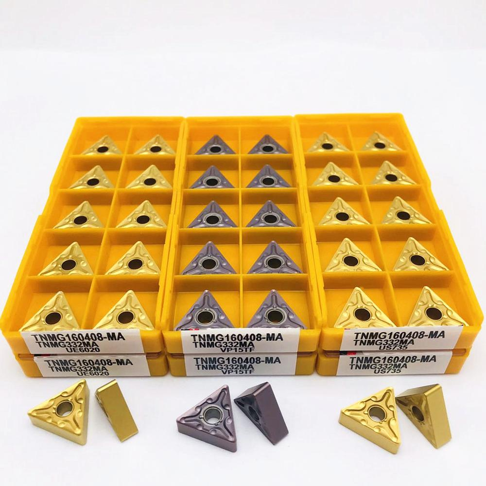 Lathe tool TNMG160408 MA VP15TF UE6020 US735 high quality metal turning carbide insert CNC machine tool milling cutter TNMG carbide insert snmg120404 snmg120408 ma vp15tf ue6020 us735 metal cnc machine tool snmg120404 cutting tool turning tool snmg
