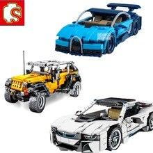Sembo Blokken Stad Technic Auto Speelgoed Jeeps Off-Road Wrangler Voertuig Compatibel Bouwstenen Speelgoed Kerstcadeaus Voor Kinderen