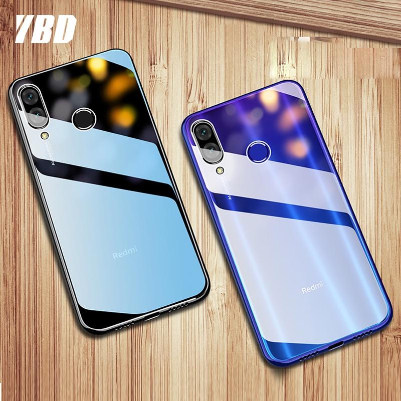 Funda transparente YBD para RedMi Note 8 7 Pro 6 5 6A 5A 7A CC9 K30 K20 8T para Xiaomi Mi 8 9 lite pro Soft TPU funda de silicona