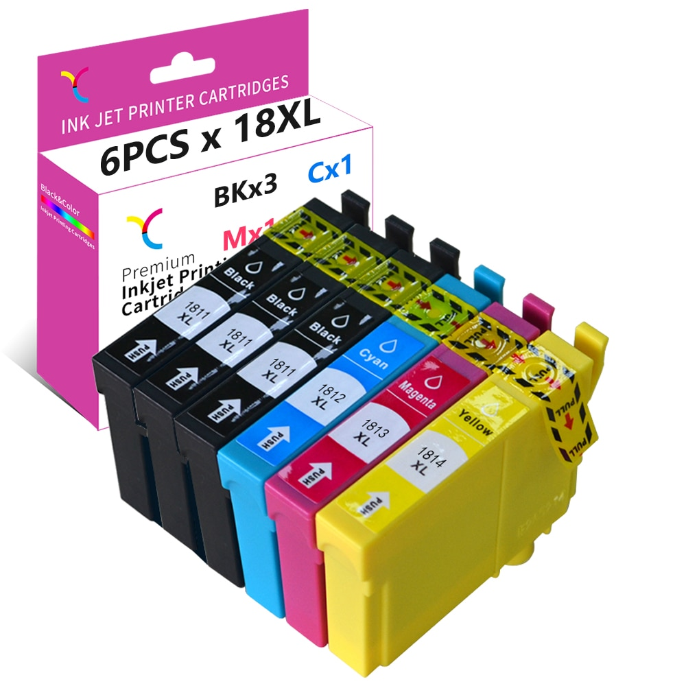 YC 18XL чернила для Epson 18 18 XL совместимый для XP-322 XP-215 XP-205 XP-225 XP305 XP-325 XP-422 XP-415 XP-425 XP-315 XP-312 XP-425